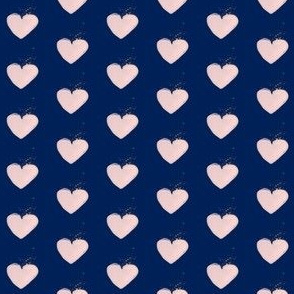 Heart on Navy
