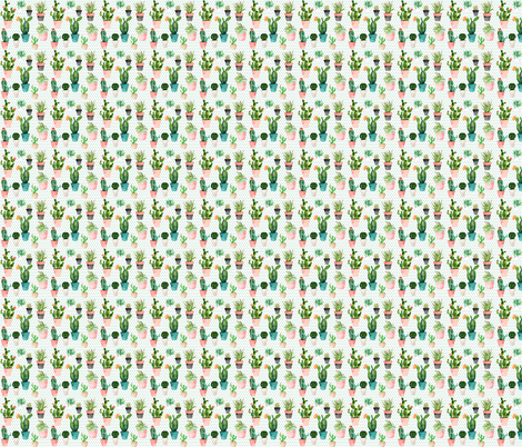 "2"" Cactus Obsession / Green Polka fabric by shopcabin on Spoonflower - custom fabric"