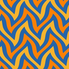 zigzag wave - blue, yellow, orange