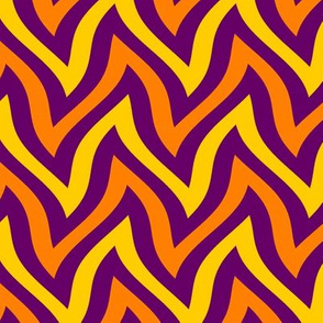 zigzag wave - purple, yellow, orange