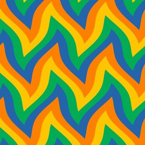zigzag wave - orange, yellow, green, blue