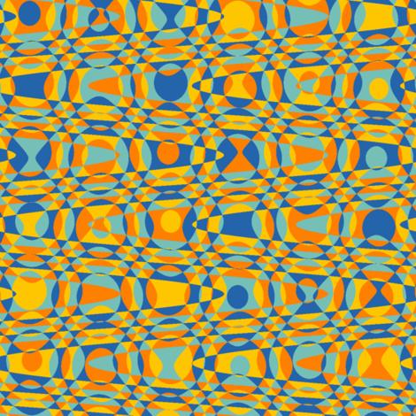 retro dots - circus bright fabric by weavingmajor on Spoonflower - custom fabric