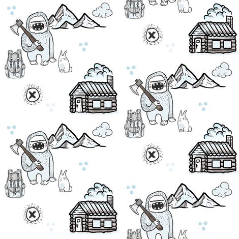 "4"" Yeti Land fabric by shopcabin on Spoonflower - custom fabric"