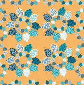 Yellow and Blue Flower Quilt Squares