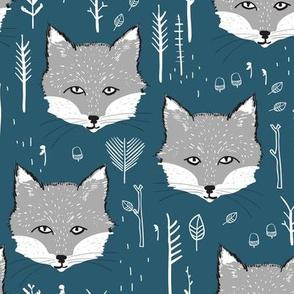 Foxy Forest (cobalt)