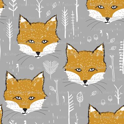 Foxy Forest (mustard/silver)