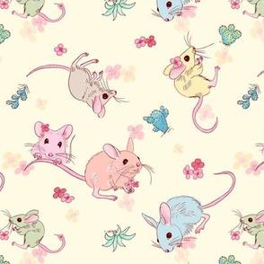 desert mices - pastel