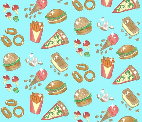 Vegan junk food-classic fabric by mountainwitch on Spoonflower - custom fabric