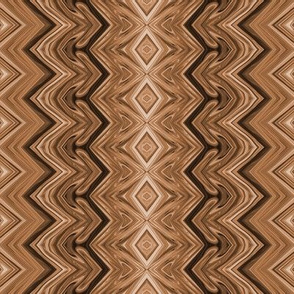 Gingerbread Brown Rickrack Stripes, large
