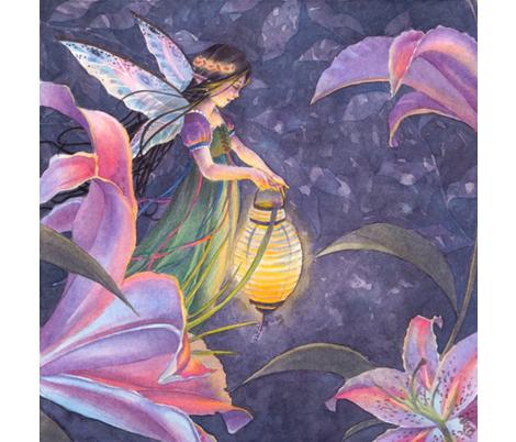 twilightlilies fabric by sarabillustration on Spoonflower - custom fabric