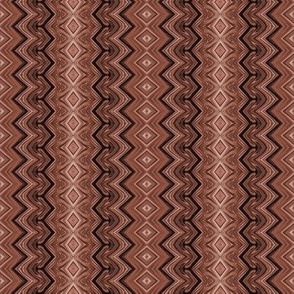 Chocolate Brown Rickrack Pinstripes