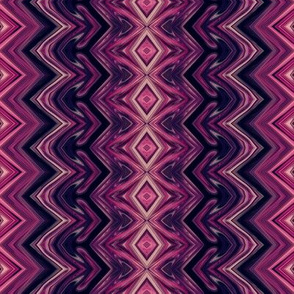 Dark Magenta Rickrack Stripes