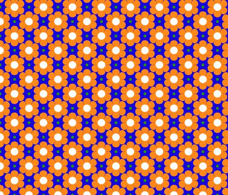 flower ark_orange fabric by 257 on Spoonflower - custom fabric