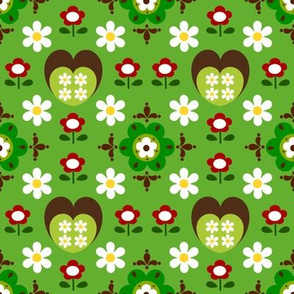 heart flower_green