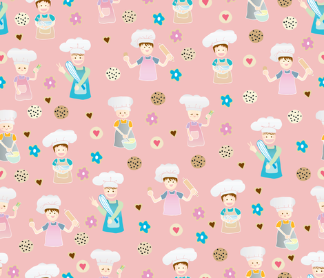 baking-cooking-time01 fabric by y_me_it's_me_shop on Spoonflower - custom fabric