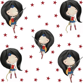 Wonder Woman Red Stars