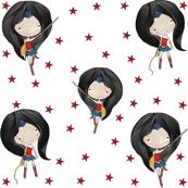 Wonder Woman Red Stars