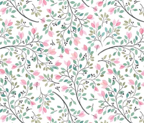 Leafy meadow fabric by lisa-glanz on Spoonflower - custom fabric