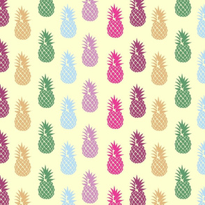 Pineapple Pattern on Yellow