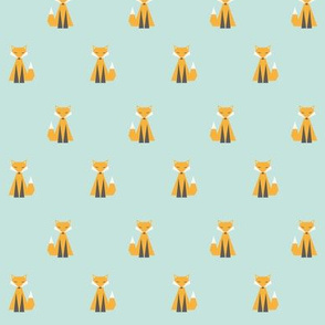 Funky Foxes repeat pattern