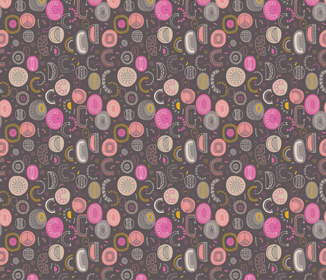 Floating spheres fabric by rebecca_prinn on Spoonflower - custom fabric