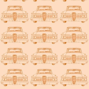 Nifty Fifties 1959 Edsel Ranger or Corsair on peach
