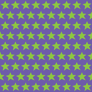 Green Star on Purple (Half Brick Repeat)