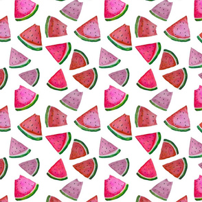 Watercolor Watermelons // LARGE