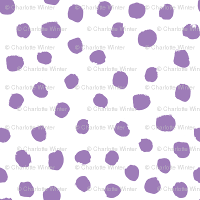 purple painted dots fabric