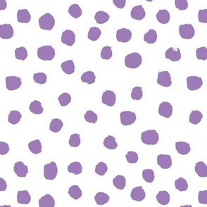 purple painted dots fabric