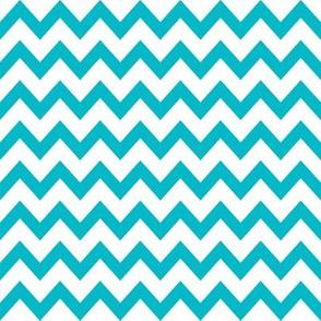 turquoise chevron fabric