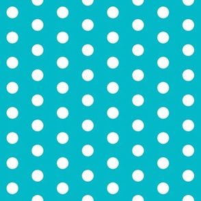 turquoise dots fabric