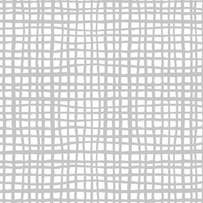 grey grid fabric