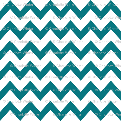 turquoise chevrons fabric
