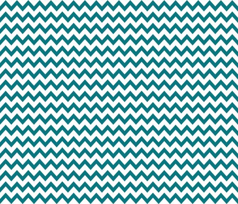 turquoise chevrons fabric fabric by charlottewinter on Spoonflower - custom fabric