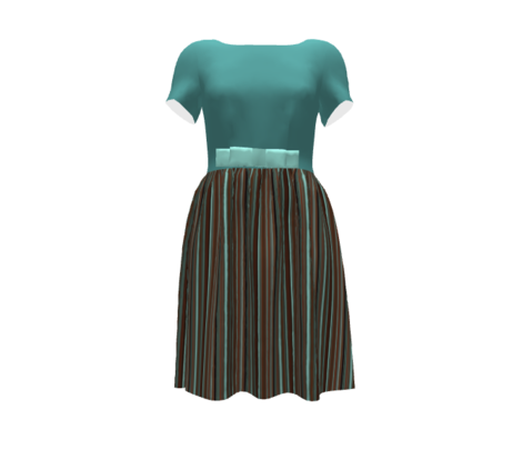 Soft Teal Solid for Musical Daze in teal, pastel green and pink - MD3