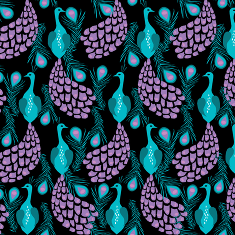 Peacock fabric girls nursery baby design turquoise purple for Purple baby fabric