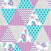 triangle cheater quilt baby girl nursery purple and turquoise nursery design