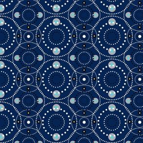 Dot Mandala - Royal Blue & Silver
