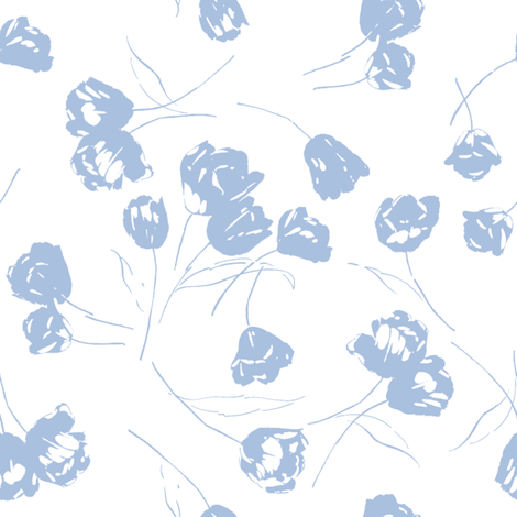 JOLIE blueberry fabric by lilyoake on Spoonflower - custom fabric