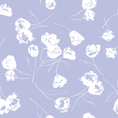 JOLIE white on blue violet