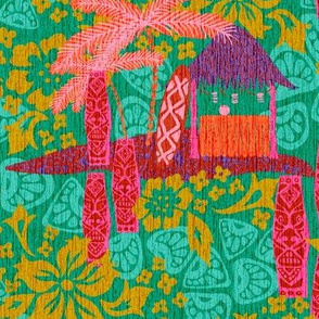 Tiki Hut with texture