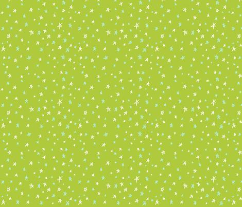 Neverland Sky (green) fabric by majoranthegeek on Spoonflower - custom fabric