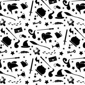 Wizardry - Black on White