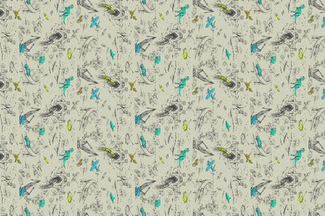 ADVENTURE TOILE MINI_ROTATE fabric by pattern_state on Spoonflower - custom fabric