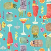 Tiki Blue Hawaii Cocktails