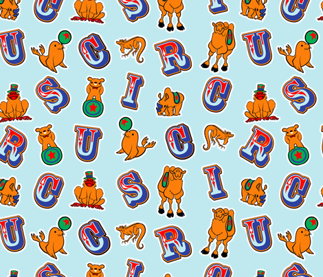 Circus Animals fabric by jadegordon on Spoonflower - custom fabric
