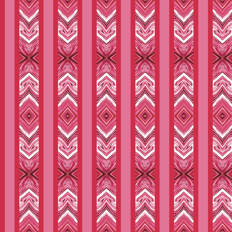 Berries and Cream Arrowhead Stripes fabric by maryyx on Spoonflower - custom fabric