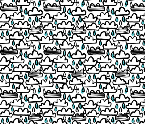 rain clouds fabric by laura_may_designs on Spoonflower - custom fabric