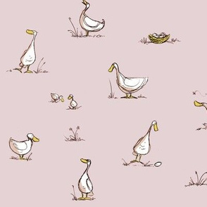 All my little duckies - light pink